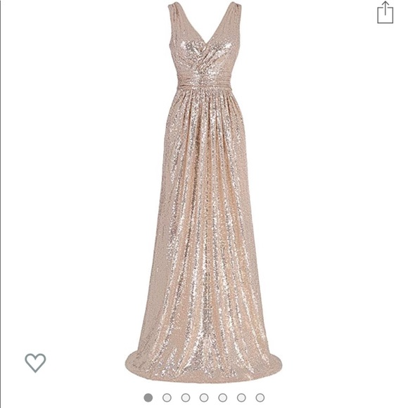 Dresses & Skirts - Rose Gold bridesmaid dress